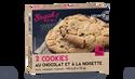 2 cookies au chocolat et à la noisette