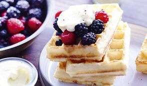 Gaufre express aux fruits rouges - Chez Requia