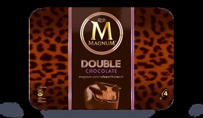 4 MAGNUM DOUBLE CHOC 276G