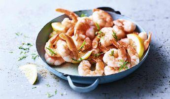 Queues crevettes cuites décortiquées cocktail bio