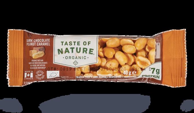 Barre au noix, au chocolat et au caramel, bio