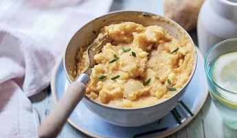 Ecrasé de pomme de terre et patate douce