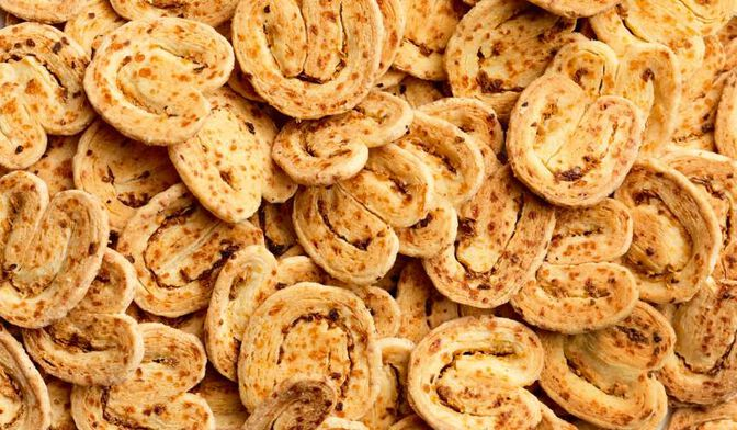 Palmiers apéritifs fromage-oignon