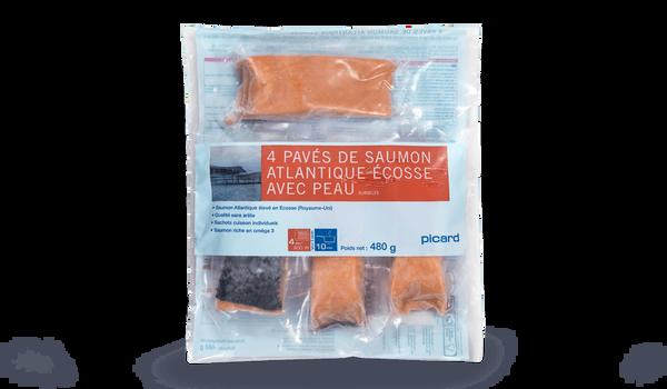 4 pavés de saumon atlantique Ecosse avec peau