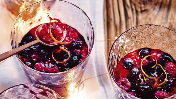 Gelée de fruits rouges au vin