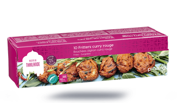 10 fritters curry rouge bouchée oignon curry rouge