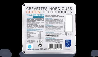 Crevettes nordiques cuites déco MSC 115-155 p.
