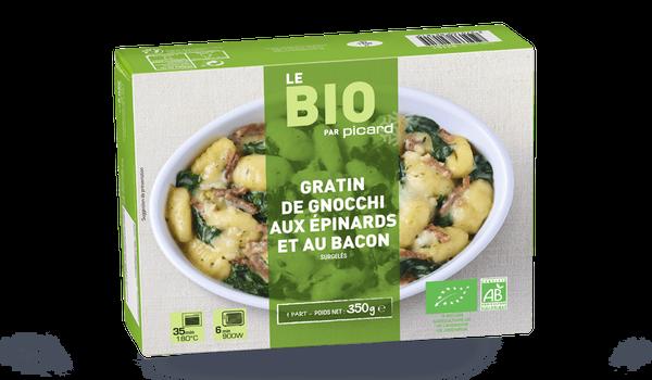 Gratin de gnocchi aux épinards et au bacon bio