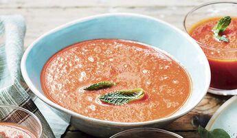 Gaspacho (tomate, concombre, poivron, oignon)