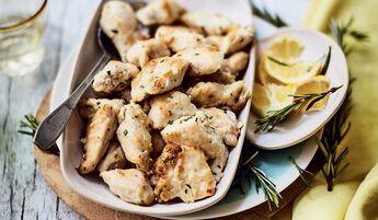 Bouchées de filet de poulet romarin citron