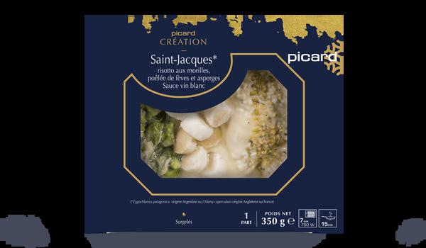 Saint-Jacques, risotto aux morilles