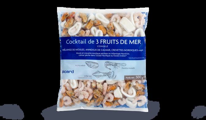 Cocktail de 3 fruits de mer (crevettes, moules, anneaux de calmar)