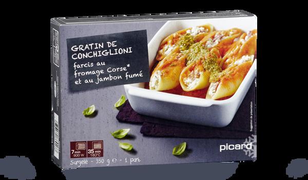 Gratin de conchiglioni farcis au fromage Corse