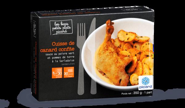 Cuisse de canard confite sauce au poivre vert
