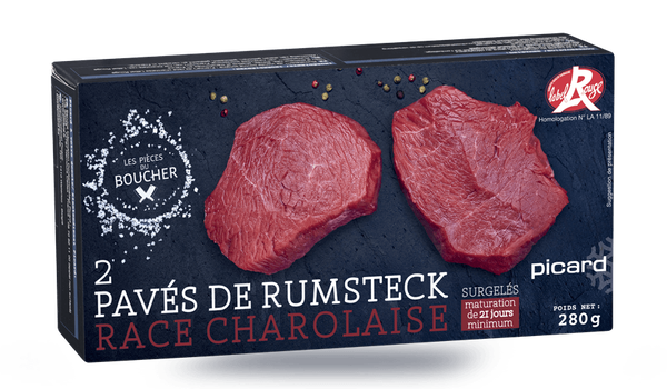 2 pavés de rumsteck Label Rouge