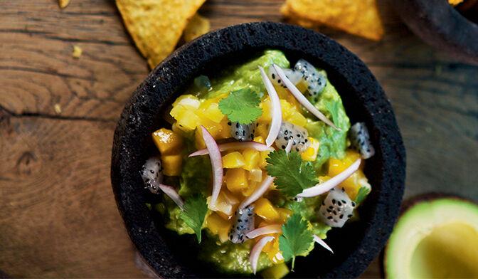 Guacamole aux fruits exotiques