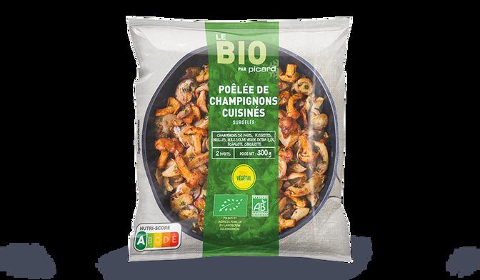 Poêlée de champignons cuisinés bio