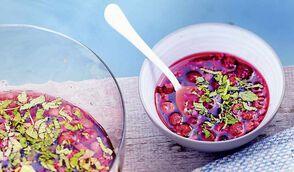 Soupe de fruits rouges au rosé