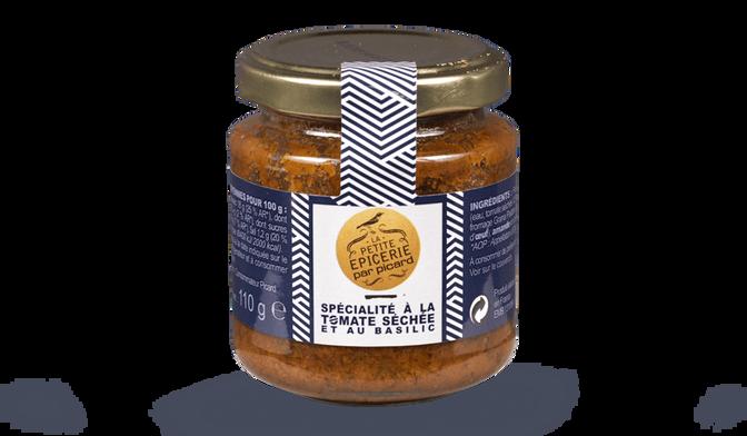 Spécialité à la tomate séchée et au basilic