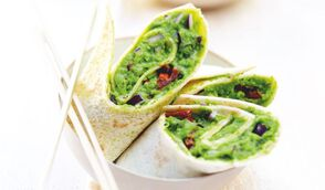 Mini-wraps végétariens