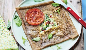 1 galette mozzarella tomate basilic bio