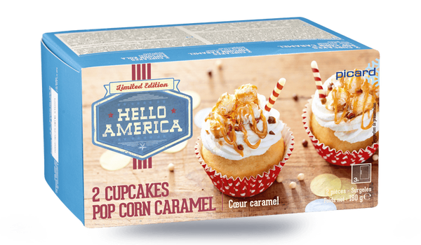 2 cupcakes pop-corn caramel