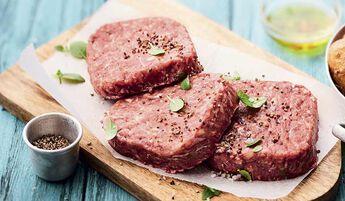 8 biftecks hachés bio, pur boeuf, 15% M.G maximum