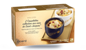 2 cassolettes noix de St-Jacques, légumes glacés