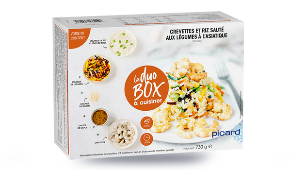 Crevettes et riz sauté aux légumes à l'asiatique