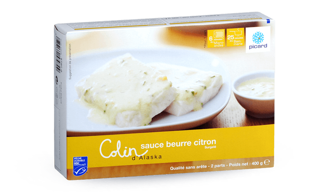 Colin d'Alaska MSC sauce beurre citron