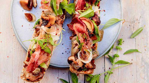 Tartine gratinée aux champignons