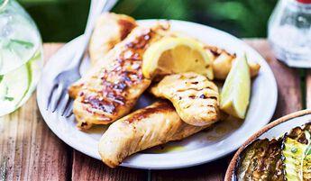 Aiguillettes de poulet marinées au citron