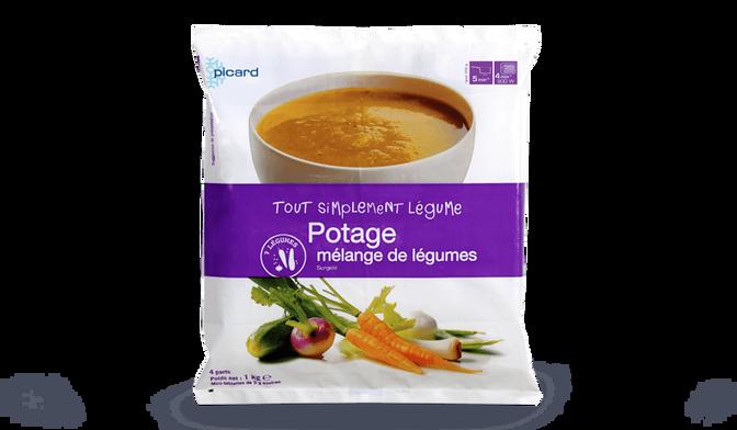 Potage mélange de légumes