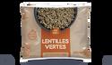Lentilles vertes, cuites