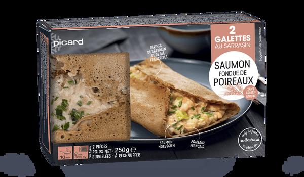 2 galettes saumon - fondue de poireaux