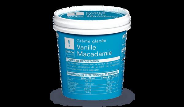 Crème glacée vanille-macadamia