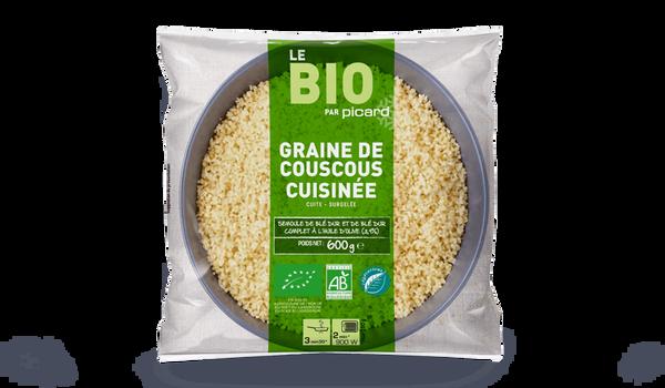 Graine de couscous cuisinée à l'huile d'olive, bio