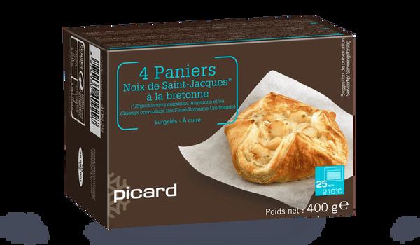 4 paniers de noix de Saint-Jacques à la bretonne