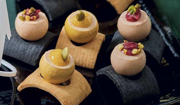 Assortiment 8 bouchées au bloc de foie gras canard