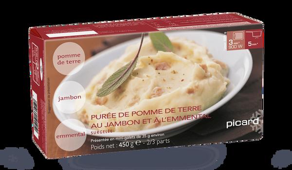 Purée de pommes de terre au jambon et à l'emmental