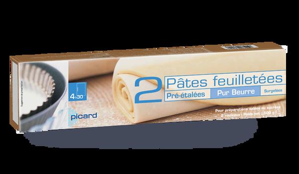 2 pâtes feuilletées pur beurre pré-étalées