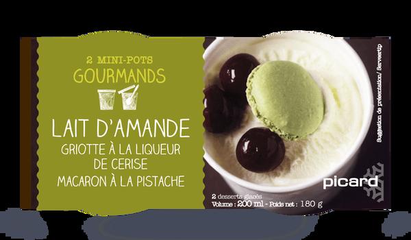 2 mini-pots crème glacée Lait d'amande, griottes