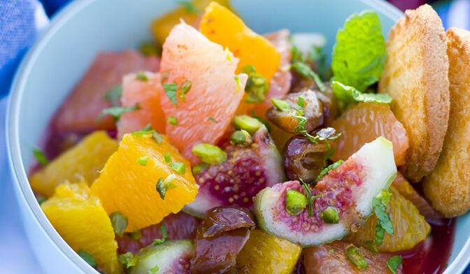 Salade de fruits orientale