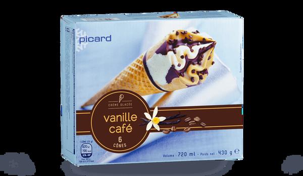 6 cônes vanille-café
