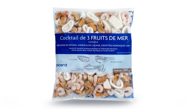 Cocktail de 3 fruits de mer