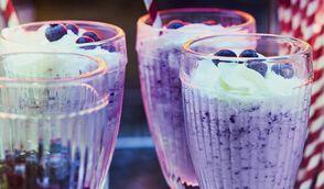 Milkshake blueberrie-vanille