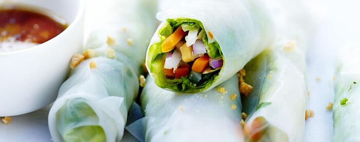 Rouleaux de printemps végétariens