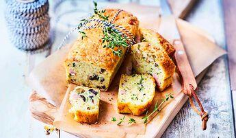 Mini-cake jambon olives (12 tranches environ)