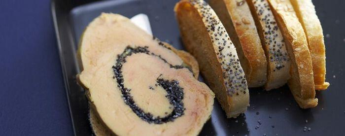 Foie gras aux graines de pavot