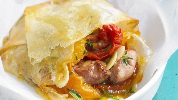 Pastilla de foie gras aux abricots